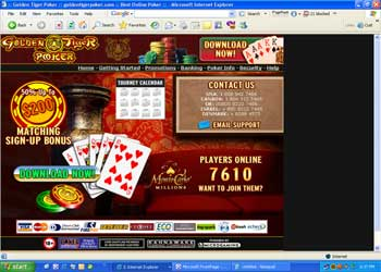 Golden Tiger Poker Room Screenshot
