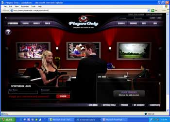 Players Only Sportsbook Screenshot