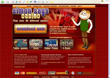 Simon Says Casino Screenshot